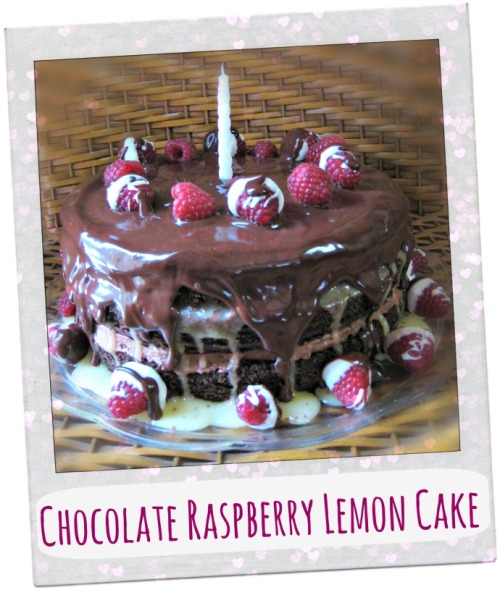 chocolate raspberry lemon cake