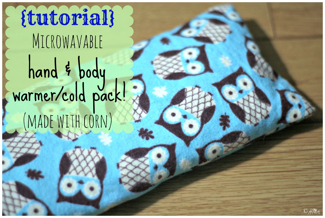 Microwavable Hot/Cold Packs…made from corn {Tutorial ...