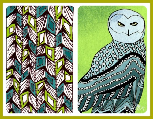 owlfeather collage