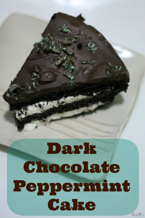 Dark Chocolate Mint Cake (recipe with lactose-free option)
