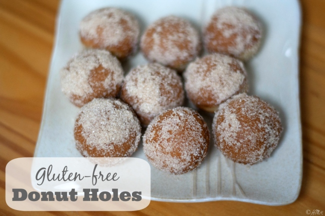 Gluten-free Cider Donut Holes (easily made lactose-free)