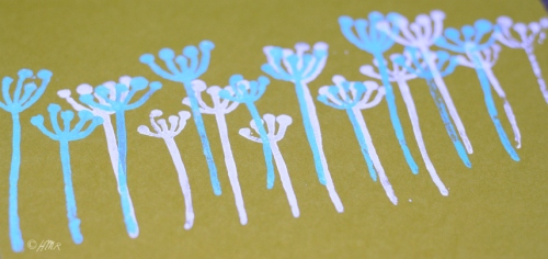 Block print queen anne's lace