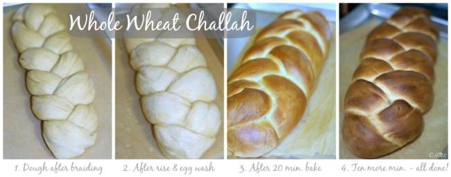 Whole wheat challah bread