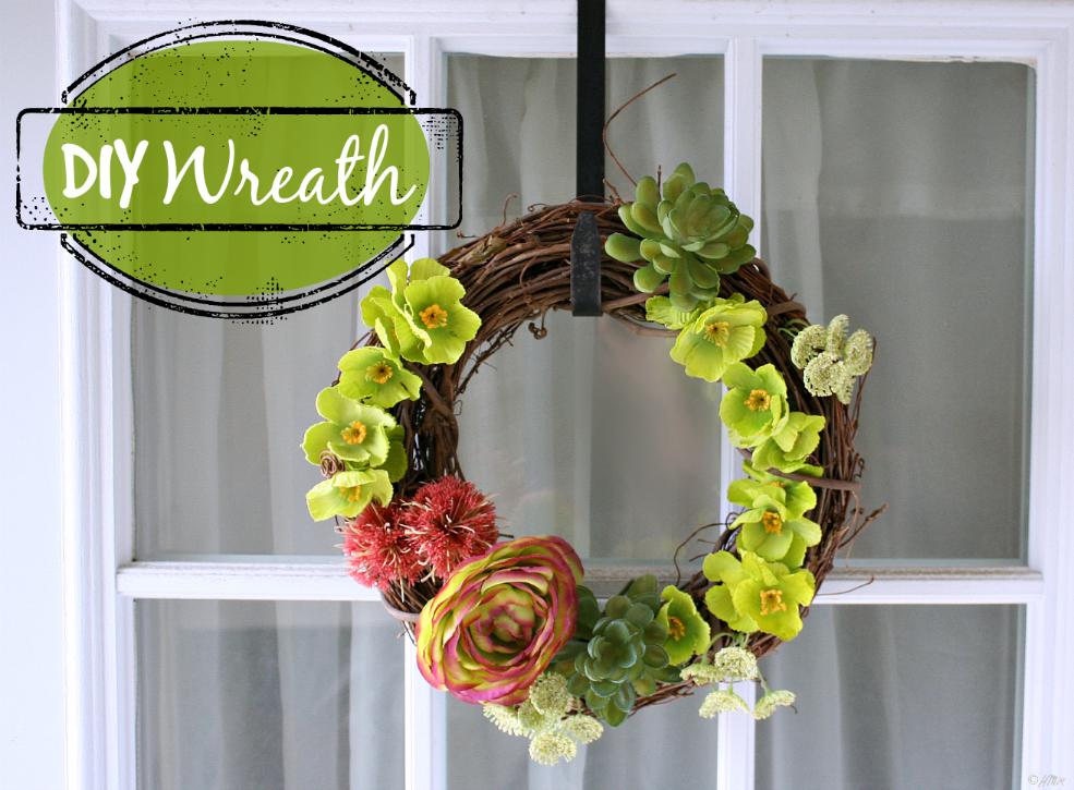 DIY Door Wreath For Spring Or Summer