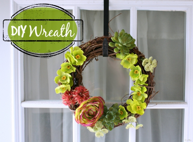 DIY Door Wreath for Spring or Summer