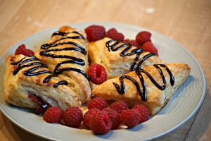 Simple Raspberry Turnover Recipe - this dough is magic!