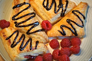 Easy Raspberry Turnover Recipe - this dough is magic!