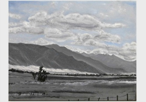 Highway 55, 11x14 oil painting by Heather M. Roberts