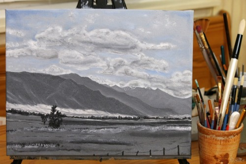 Highway 55 Painting by Heather M. Roberts