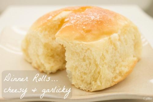 Cheesy + Garlicky Dinner Rolls | happyandsimple.wordpress.com