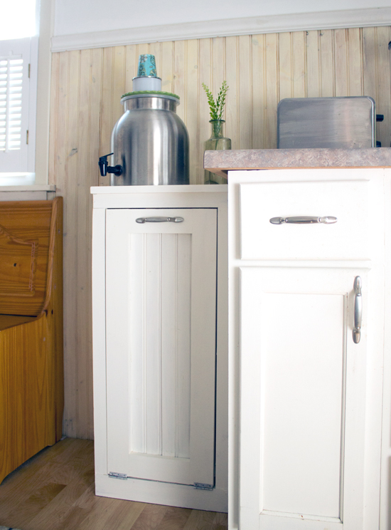Hide Your Kitchen Trash Can Happyandsimple